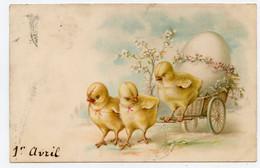 1er Avril. Poussins. Charrette ,gros Oeuf.chicks. - Autres