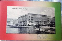 ITALIA TRIESTE PALAZZO DEL LLOYD VIAGGIATA 1918 TIMBRI CENSURA - Trieste