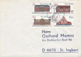D FDC 3067 - 70  Historische Postgebäude, Pappenheim 6o86 - FDC: Briefe