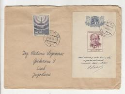 Czechoslovakia Letter Cover Zapotocky SS Posted 1958 To Yugoslavia - Poštovni Urad Praha Stickers B211015 - Covers & Documents