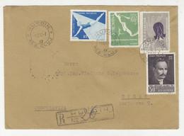 Romania 3 Letter Covers Posted 1957 Huerdin To Sisak Yugoslavia - 2 Registered B211015 - Cartas