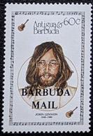 "Barbuda, 1987, Mi 1013, Entertainers - Issue Of 1987 Of Antigua & Barbuda Overprinted ""BARBUDA MAIL"", John Lennon, MNH - Musica"