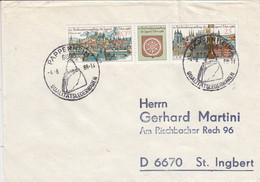 D FDC 3173 - 74  10. Briefmarkenausstellung Der Jugend Erfurt 1988, Pappenheim 6086 - FDC: Briefe
