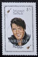 "Barbuda, 1987, Mi 1016, Entertainers - Issue Of 1987 Of Antigua & Barbuda Overprinted ""BARBUDA MAIL"", Elvis Presley, MNH - Musica"