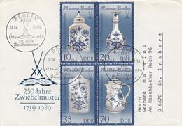 D FDC 3241 - 44 II  250 Jahre Zwiebenlmuster Al Dekor Auf Meißener Porzellan, Berlin 1085 - FDC: Briefe