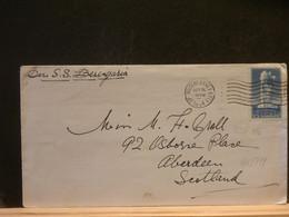 95/779  LETTRE  USA POUR ABERDEEN 1934 PAR SS - Covers & Documents