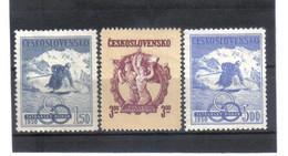 BAU671 TSCHECHOSLOWAKEI 1950 Michl  605/07 ** Postfrisch SIEHE ABBILDUNG - Unused Stamps