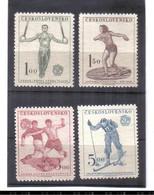 BAU782 TSCHECHOSLOWAKEI 1951  Michl  671/74 ** Postfrisch SIEHE ABBILDUNG - Unused Stamps