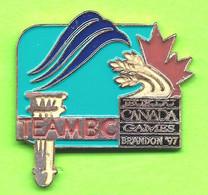 Pin's Jeux Du Canada Games Brandon '97 Team Équipe BC - 6BB03 - Games
