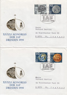 D FDC 3360 - 63 XXXXI. Kongress Der IAF Dresden 1990, Berlin 1085 - FDC: Briefe