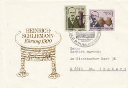 D FDC 3364 - 65  Heinrich Schliemann-Ehrung 1990, Berlin 1085 - FDC: Briefe
