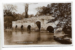 Real Photo Postcard, SUSSEX, STOPHAM Bridge, Boat, River, Landscape, 1939. - Chichester