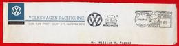 1966 AUTO VW MAGGIOLINO BEETLE - USA AFFRANCATURA NERA - EMA - METER MARK - FREISTEMPEL - Automobili