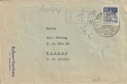 Allemagne Lettre Taxée Pour Le Sud Ouest Africain 1971 - Brieven En Documenten