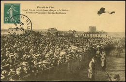 LET FRANCE - 1° Vols - 1910, Circuit De L'Est, CP (O), Arrivée Du Vainqueur à Issy Les Moulineaux - Eerste Vluchten