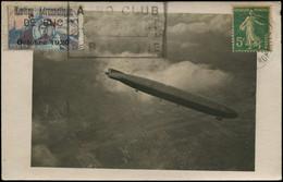 LET FRANCE - 1° Vols - 10/10/20, CP, Yvert 137 Paris - Bruxelles + Semi-officiel Guynemer Surchargé BUC 1920, Cachet Rec - Eerste Vluchten