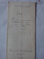 Acte Notarié Vergèze Vauvert Gard Vente Une Vigne Olivette 11 Ares Février 1866 Cachet Royal & Timbre Impérial Aigle A - Manuscripts