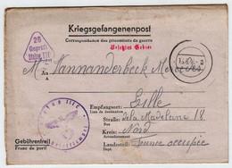 France Correspondance Des Prisonniers De Guerre 16 Mai 1941 Stalag IIIC Pour Lille - Guerres