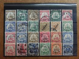 EX COLONIE TEDESCHE 1900/10 - KIAO-TCHEOU + ALTRI - 24 Valori Timbrati + Spese Postali - Kolonie: Kiautschou