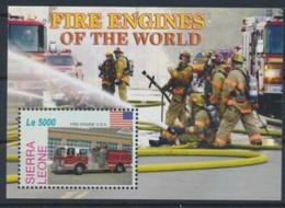 Sierra Leone  Fire Men Pompiers USA MNH - Firemen