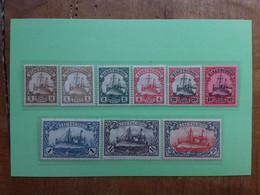 EX COLONIE TEDESCHE 1900-1911 - KIAO-TCHEOU - Concessione Tedesca - 9 Valori Nuovi * + Spese Postali - Kolonie: Kiautschou