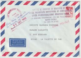 FR - Lettre De Toulon Pour La Valette - GREVE POSTALE - Briefe U. Dokumente