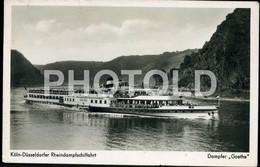 OLD PHOTO POSTCARD DAMPFER GOETHE GERMANY DEUTSCHLAND DEUTSCH STAMPED - Dampfer