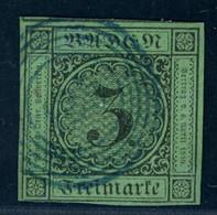 Baden Michel Nummer 6 Gestempelt Schallstadt (blau) - Baden