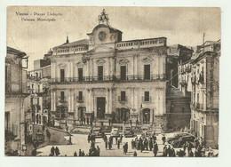 VIZZINI - PIAZZA UMBERTO - PALAZZO MUNICIPALE   - VIAGGIATA   FG - Catania