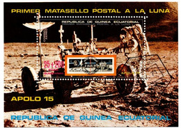 Apolo 15 & Soyouz - 2 Bloc Guinea Ecuatorial Guinée - Apollo & LEM - Espace - Africa