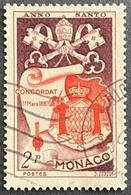 MCO0356U - Holy Year 1950 - Coat Of Arms - 2 F Used Stamp - Monaco - 1951 - Gebruikt