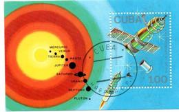 Soyouz Vénus Cosmonaute - 2 Bloc Cuba - Planètes Système Solaire - America Del Nord
