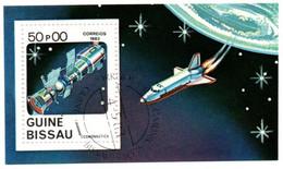 Navette Space Shuttle Soyouz Fusée Vénus - 4 Bloc Guiné Bissau & Guinea Ecuatorial - Cosmonaute Espace - Africa