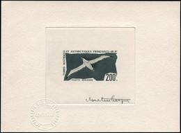 EPA TERRES AUSTRALES - Poste Aérienne - 4, épreuve D'artiste En Noir, Signée Hertenberger: 200f. Albatros - Unclassified