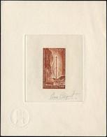 EPA TERRES AUSTRALES - Poste Aérienne - 13, épreuve D'artiste En Brun-rouge, Signée Béquet: Terre Adélie, Pylône - Unclassified