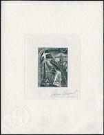 EPA TERRES AUSTRALES - Poste Aérienne - 18, épreuve D'artiste En Noir, Signée Béquet: Traité Sur L'Antarctique, Tour Eif - Unclassified