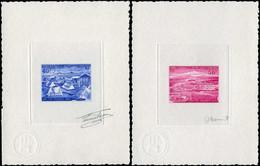 EPA TERRES AUSTRALES - Poste Aérienne - 25 (bleu) + 26 (rouge), 2 épreuves D'artiste Signées Fenneteaux Et Miermont: Por - Unclassified