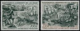** TERRES AUSTRALES - Poste Aérienne - 27/28, Découverte De Crozet Et Kerguelen - Unclassified