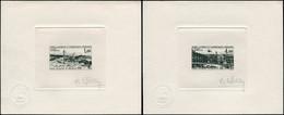 EPA TERRES AUSTRALES - Poste Aérienne - 42/43, 2 épreuves D'artiste En Noir, Signées Haley: Base Dumont D'Urville - Unclassified