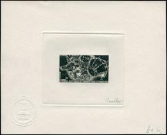 EPA TERRES AUSTRALES - Poste Aérienne - 49, épreuve D'artiste En Noir, Signée Gauthier: Télémesure, Satellite - Unclassified