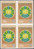 ** TUNISIE - Poste - 1070, Bloc De 4 Non Dentelé: 280m. FAO, Blé - Non Classés