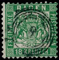 O ALLEMAGNE BADE - Poste - 20, Vert Foncé, TTB (Michel 21b) - Baden