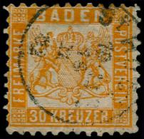 O ALLEMAGNE BADE - Poste - 21, Petit Clair, Beau D'aspect: 30kr. Orangé Foncé. - Baden