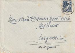 Allemagne Lettre Stuttgart Pour La Suisse 1953 - Briefe U. Dokumente
