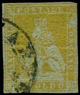 O ITALIE  2 SICILES - Poste - 2, Filets Intacts, Signé Macoveanu: 1s. Ocre/gris (Sas. 2) - Sicilië