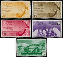 ** ITALIE - Poste Aérienne - 86/90, Complet Bellini (Sas. A90/94) - Non Classificati