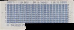 ** ITALIE - Colis Postaux - 8, Feuillet De 100, Dont Variété De Filigrane Constante Sur 10 Exemplaires Des 5ème Et 6ème  - Non Classificati