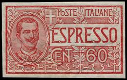 * ITALIE - Express - 9, Non Dentelé: 60c. Rouge (Sas. 7a) - Non Classificati