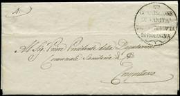 "LET ITALIE - Oblitérations - Lettre + En Tête ""Commissione Provinciale Di Sanita"" 13/3/1841, Cachet ""Commissione Sanita  - Non Classificati"