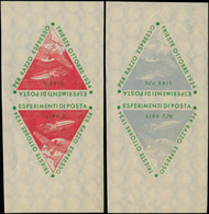 """** ITALIE - Poste Spatiale - 2 Paires De Vignettes Tête-bêche: """"Esperimenti Di Posta Per Razzo, Trieste 1934"""", 5l Et 7.7 - Non Classificati"""